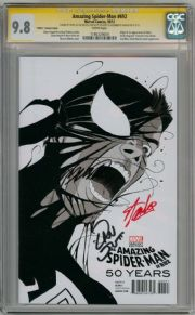 Amazing Spider-man #692 Martin 1980s Venom Variant CGC 9.8 Signature Series Signed x3 Stan Lee